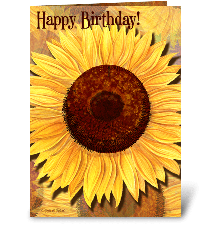 A Sunshine Birthday! greeting card
