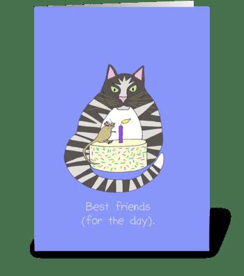 Best Friends Birthday greeting card