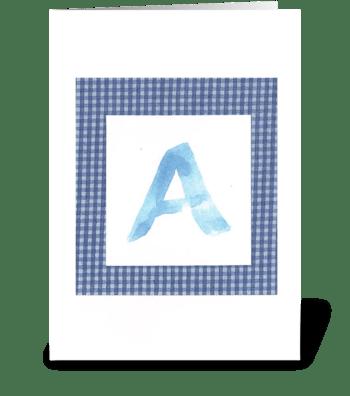 A - Baby Boy greeting card