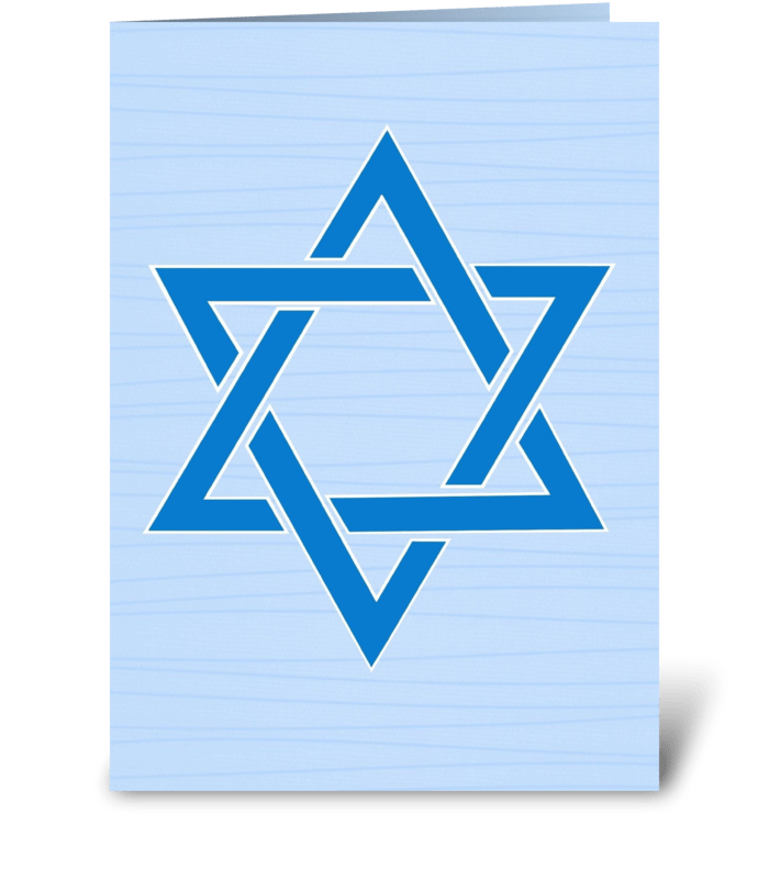 Star of David Hanukkah greeting card