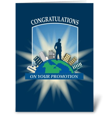 On Top of the World - Promotion Congrats greeting card