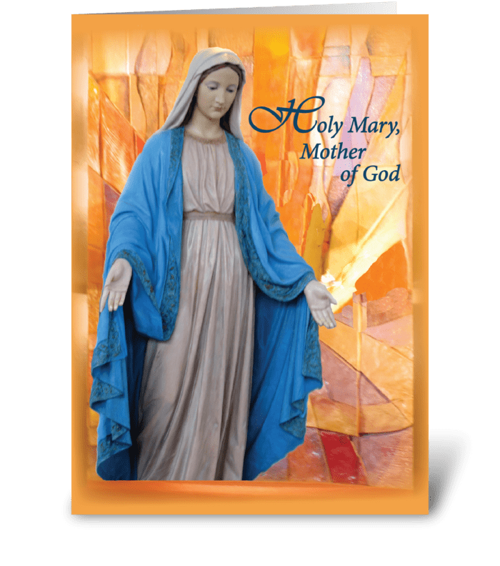 Mary, Mother of God, Catholic Thinking  greeting card