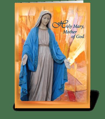 Mary, Mother of God, Catholic Thinking  greeting card