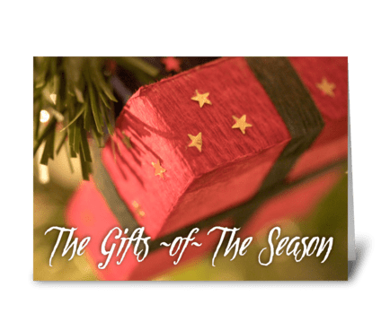 The Gifts of The Season greeting card