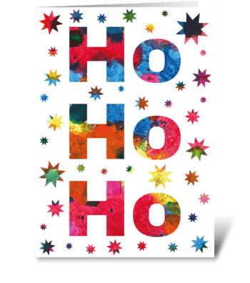 87 Ho Ho Ho Christmas Card greeting card
