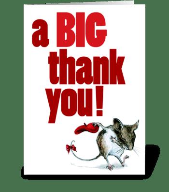 Merci Fieldmouse greeting card
