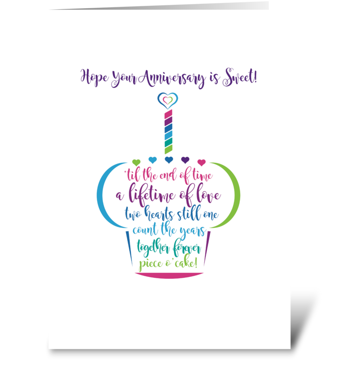 Happy Anniversary To A Sweet Couple greeting card