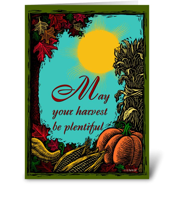 Fall Harvest Thanksgiving Card greeting card
