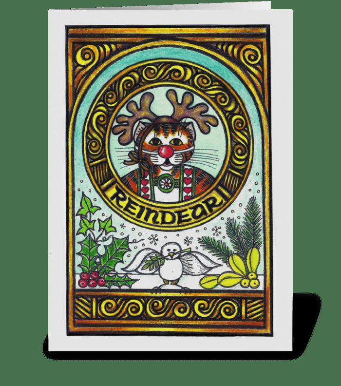 Reindear greeting card