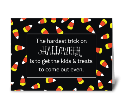 Halloween Candy Corn Humor greeting card