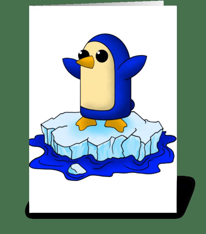Cute Baby Penguin greeting card