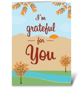 Thanksgiving Grateful for You greeting card