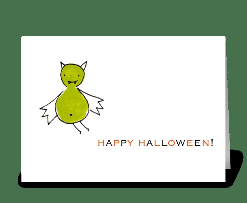 Batty Halloween greeting card