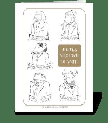 The Author Animalia Collection: Fellows greeting card