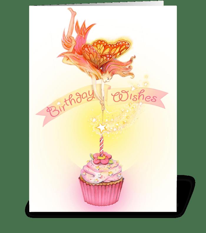 Fairy cake greeting card