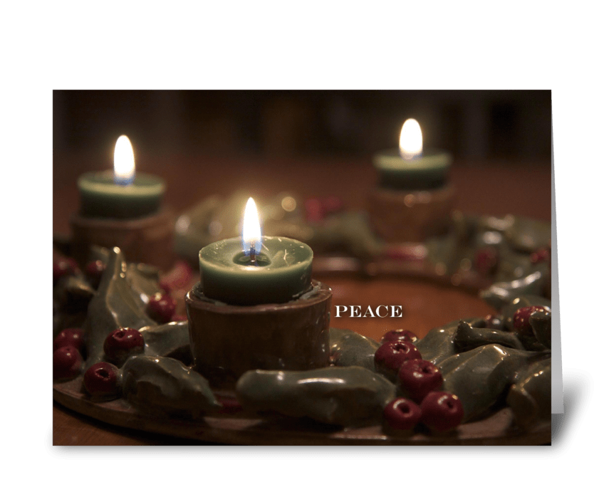 Peace Advent greeting card