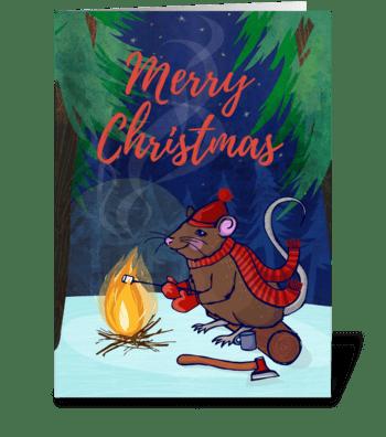 Merry Mousemas greeting card