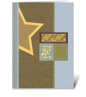 Stitch Up the Day Thinking of You greeting card