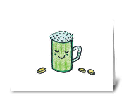 Green Beer  greeting card