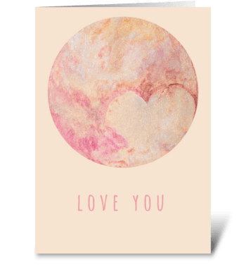 Venus Love greeting card