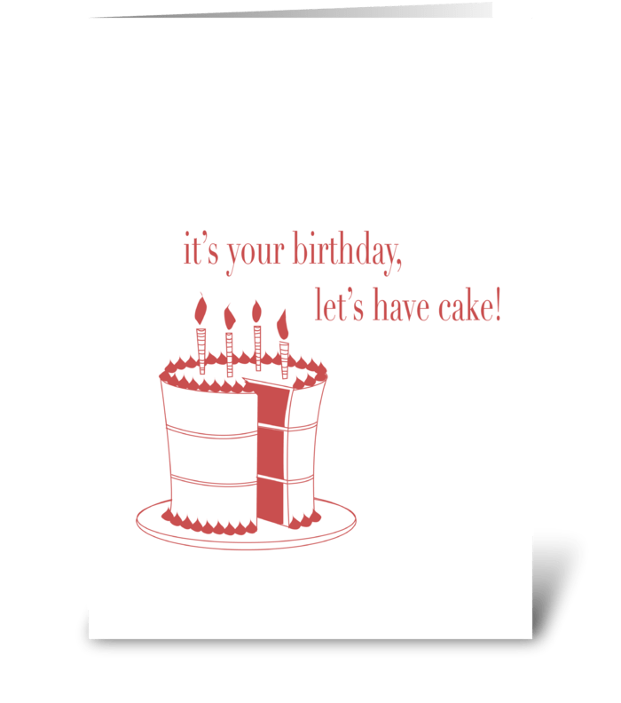 Let's Eat Cake! greeting card