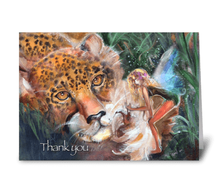 Thank you, Fae lends a Hand greeting card