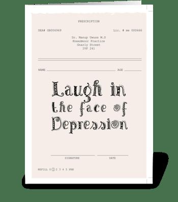 Depression * Inspiration-ill greeting card