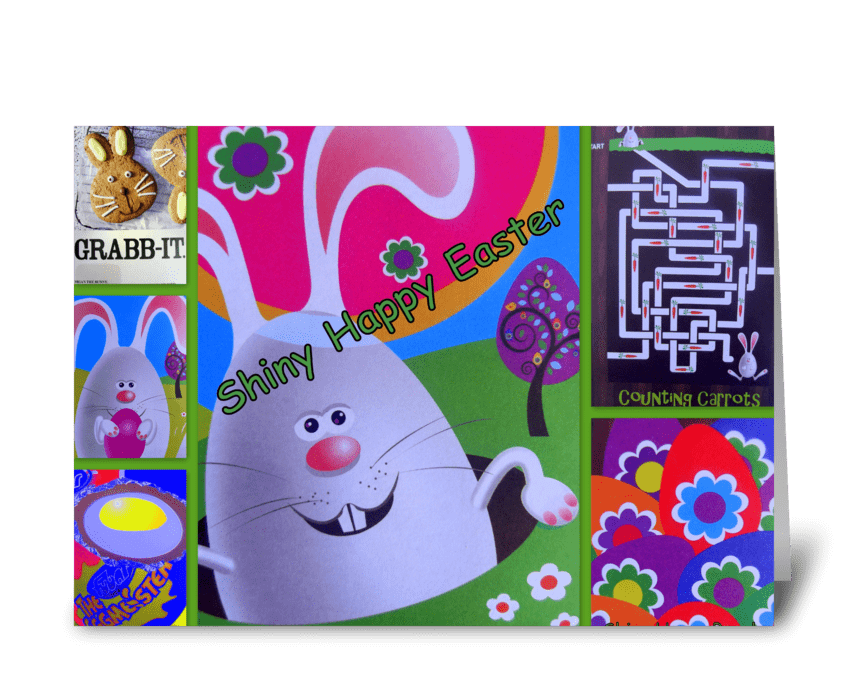 Shiny Happy Easter greeting card