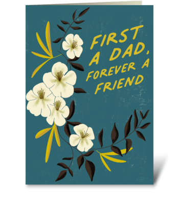 First A Dad greeting card