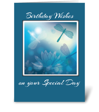 Dragonflies Birthday, Religious, Man greeting card