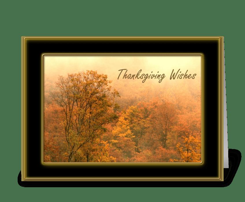 Thanksgiving Autumn Trees greeting card
