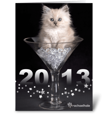May your glass always be full in 2013 greeting card