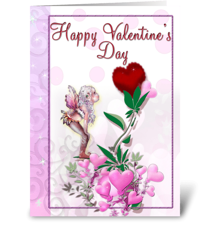 Fairy and Valentines greeting card