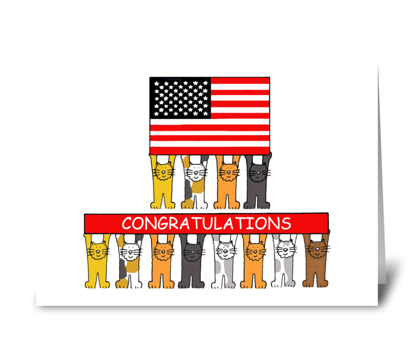 USA Citizenship Congratulations. greeting card