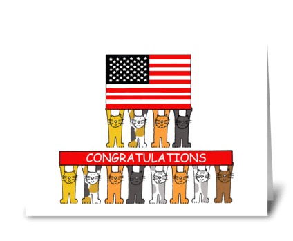 USA Citizenship Congratulations. greeting card