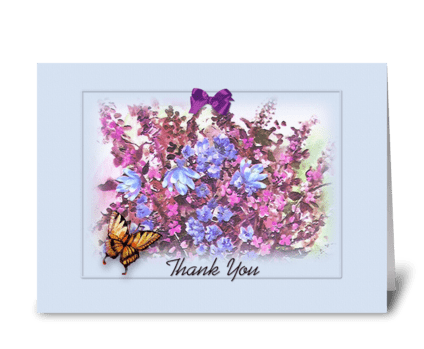 Thank You Bouquet greeting card