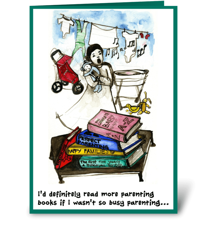 Mother's Day, books greeting card