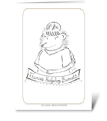 The Author Animalia Collection:Hedgehog greeting card