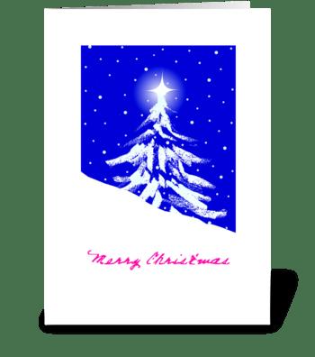 Lil Christmas Tree greeting card