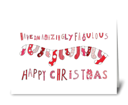 Amazingly Fabulous Happy Christmas greeting card