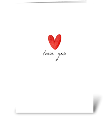 Minimalistic love card greeting card