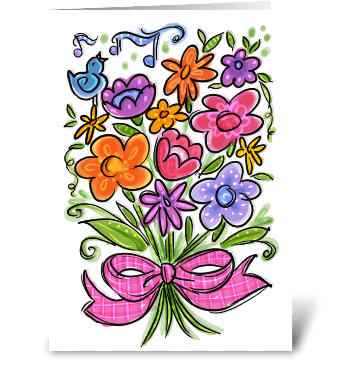 Bouquet Of Cheer greeting card