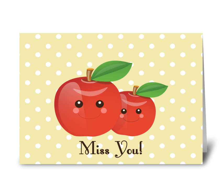 Miss You! greeting card