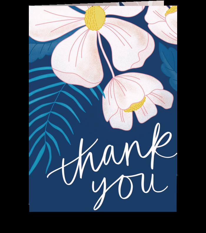 Pink Blooms greeting card