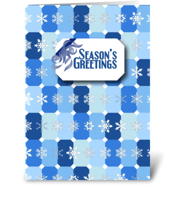 Snowflake Tile - Season's Greetings greeting card