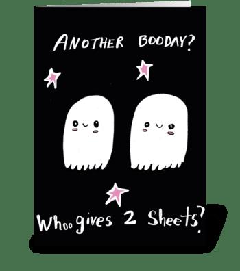 Whoo gives 2 sheets greeting card