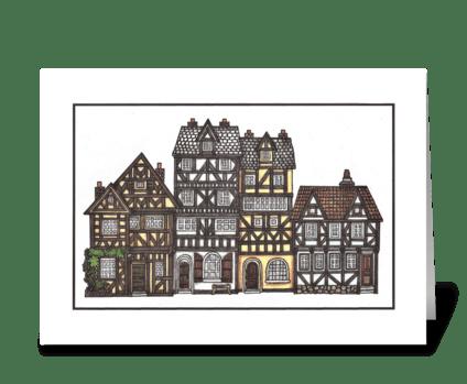 MEDIEVAL HOUSES greeting card