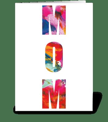 32 Mom Abstract greeting card