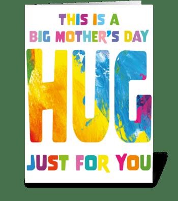 128 Big Hug Mother's Day greeting card