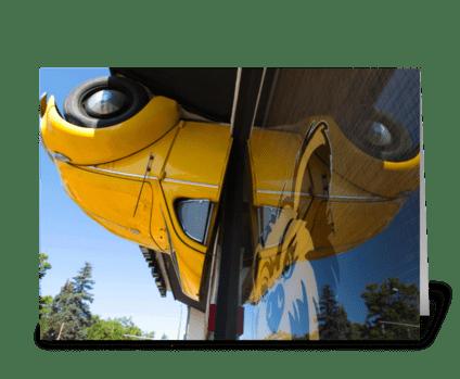 Yellow Volkswagen greeting card